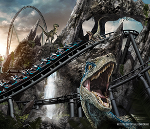 Jurassic World VelociCoaster: A New Species of Roller Coaster.